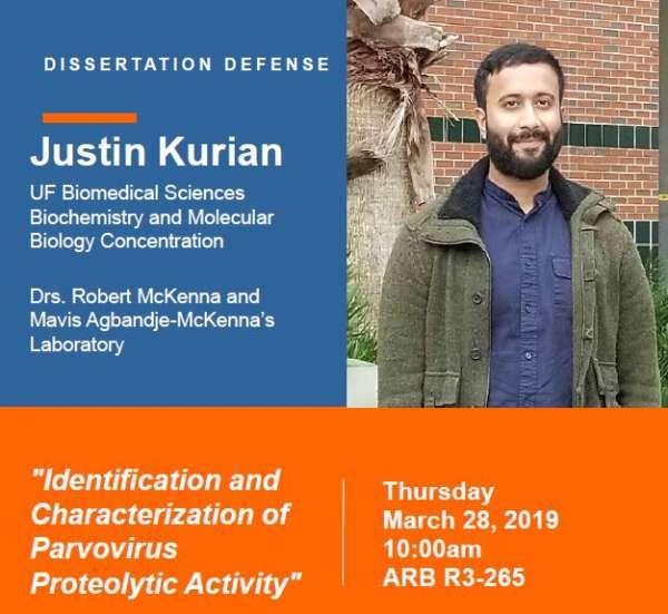 Justin Kurian's Defense Announcement